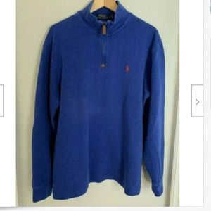 Polo Ralph Lauren Mens Sz L Sweater Blue Red Pony
